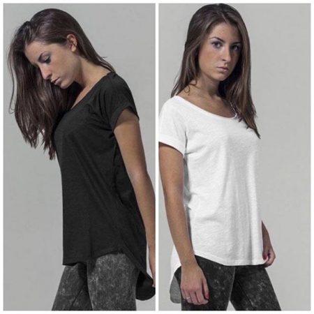 LIWLWomen's Black Slub T-Shirt