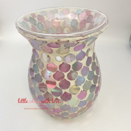 Pink Droplet Wax Tea Light Warmer