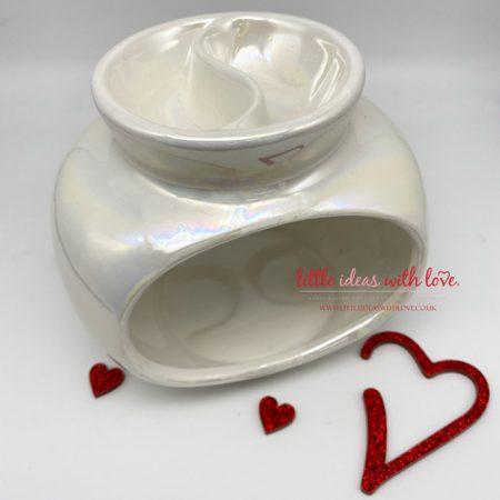 Oval Lustre Double Wax Warmer